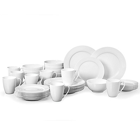 Gorham® Breckenridge 40-Piece Dinnerware Set in White  sc 1 st  Bed Bath \u0026 Beyond : gorham dinnerware - pezcame.com
