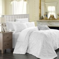 Chic Home Ella 4-Piece Queen Duvet Cover Set in White