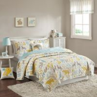 INK+IVY Woodland Full/Queen Coverlet Set in Aqua