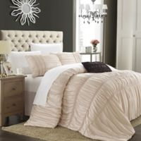 Chic Home Roning 4-Piece King Duvet Cover Set in Taupe