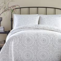 Jessica Simpson Medallion Twin Coverlet in Grey