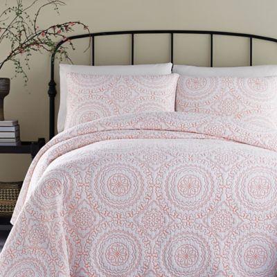 Jessica Simpson Medallion Standard Pillow Sham in Coral