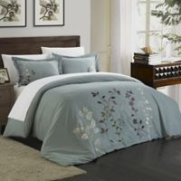 Chic Home Kathy 3-Piece Queen Duvet Cover Set in Green