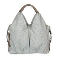 Lassig Green Label Allover Fleur Neckline Diaper Bag in Choco Mélange