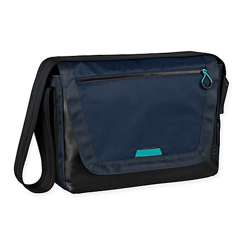 lassig casual sporty messenger diaper bag in navy bed bath beyond. Black Bedroom Furniture Sets. Home Design Ideas