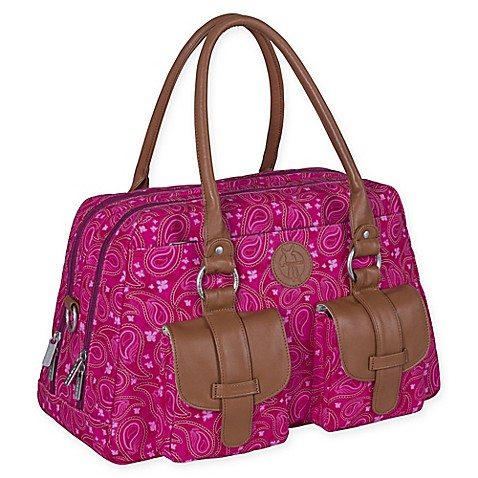 lassig vintage metro diaper bag in paisley pink bed bath beyond. Black Bedroom Furniture Sets. Home Design Ideas
