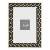 Reed & Barton Luxe Collection 5-Inch x 7-Inch Circles Picture Frame in Black/Gold