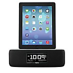 iHome® iDL44 Docking Dual Alarm FM Stereo Clock Radio with USB Charging Port