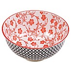 Certified International Chelsea Mix and Match Red Floral 4.75-Inch Bowl