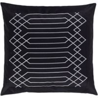 Surya Acca Geometric European Pillow Sham in Black