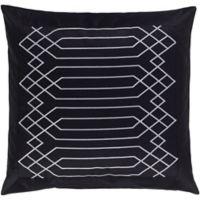 Surya Acca Geometric European Pillow Sham in Black