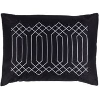 Surya Acca Geometric King Pillow Sham in Black