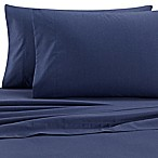 Izod® Cross-Dyed 200-Thread-Count Queen Sheet Set in Navy