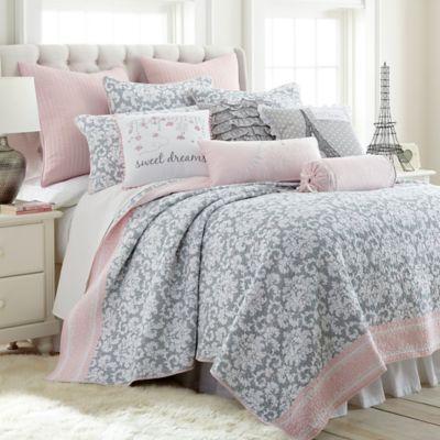 Levtex Home Margaux Reversible Full/Queen Quilt Set In Grey/Pink