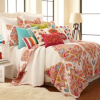 Levtex Home Tivoli Bone Reversible Twin Quilt Set in Red