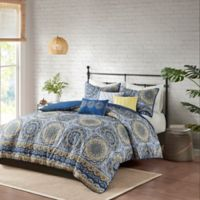 Madison Park Tangiers Full/Queen 6-Piece 2-in-1 Duvet Set in Blue
