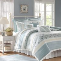Madison Park Dawn Queen 9-Piece Duvet Set in Blue
