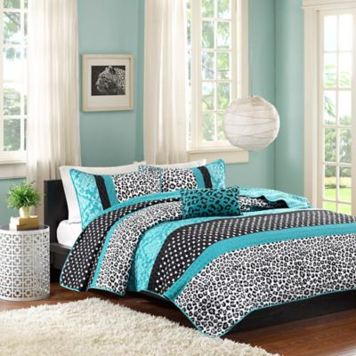 Mi Zone Chloe Twin/Twin XL 3-Piece Coverlet Set in Teal - Buy Teal Bedding From Bed Bath & Beyond