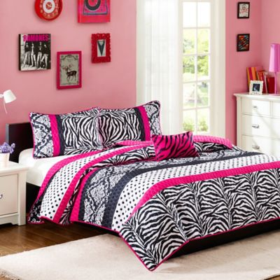 Buy Pink Zebra Bedding Set from Bed Bath & Beyond