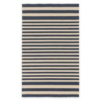 Surya Nadelhorn 3-Foot x 5-Foot Indoor/Outdoor Accent Rug in Navy/Cream