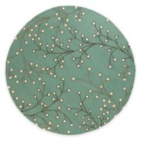 Surya Nordend 8-Foot Round Indoor/Outdoor Area Rug in Moss