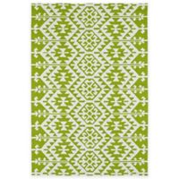 Kaleen Habitat Tribal 8-Foot x 10-Foot Indoor/Outdoor Area Rug in Lime Green