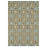 Kaleen Habitat Tile 8-Foot x 10-Foot Indoor/Outdoor Area Rug in Brown