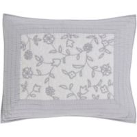Surya Delaney Cotton/Linen King Pillow Sham in Light Grey