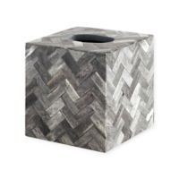Osso Accessories by Kassatex Natural Bone Boutique Tissue Box Cover