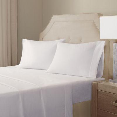 Ordinaire Madison Park Signature® Cotton Linen Blend Queen Sheet Set In White