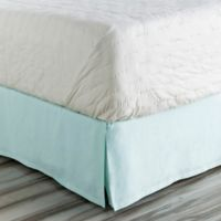 Surya Anniston California King Bed Skirt in Sky Blue