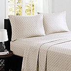 Madison Park® Fretwork Cotton Printed Queen Sheet Set in Tan