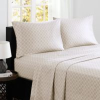 Madison Park® Fretwork Cotton Printed California King Sheet Set in Tan