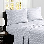 Madison Park® Fretwork Cotton Printed Queen Sheet Set in Grey