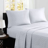 Madison Park® Fretwork Cotton Printed King Sheet Set in Grey