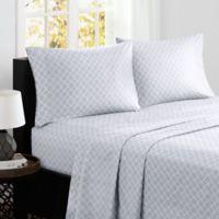 Madison Park® Fretwork Cotton Printed Full Sheet Set in Grey