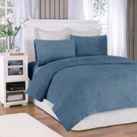 Premier Comfort® Soloft Plush Twin Sheet Set in Sapphire