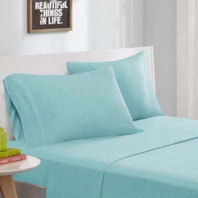 Intelligent Design® Jersey Knit Twin Sheet Set In Aqua