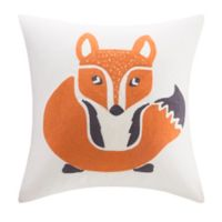 INK+IVY Foxy Square Throw Pillow in Ivory