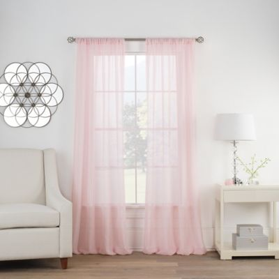Cambria® Terra 63 Inch Rod Pocket Sheer Window Curtain Panel In Pink