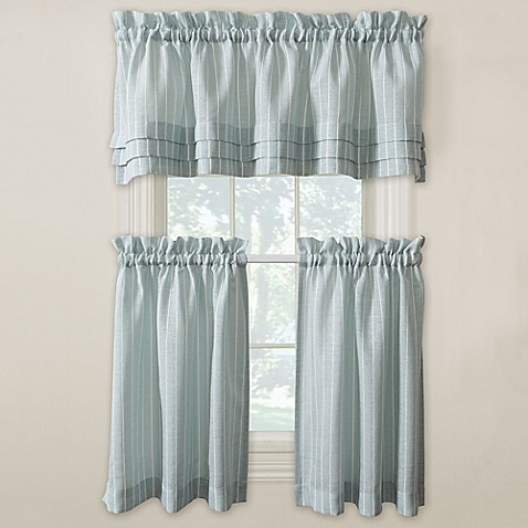 Langley Kitchen Window Curtain Tiers And Valance Bed Bath Beyond