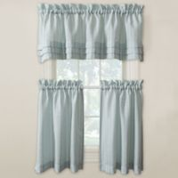 Langley 36-Inch Kitchen Window Curtain Tier Pair in Aqua