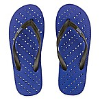 Unisex Small Diagonal Hole AquaFlops Shower Shoes in Royal Blue