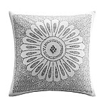 INK+IVY Sofia Square Throw Pillow in Grey