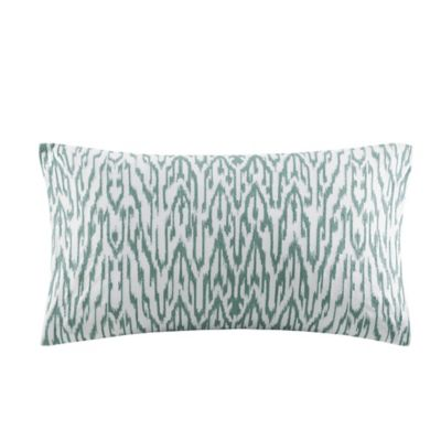 INK+IVY Martina Embroidered Oblong Throw Pillow in Seafoam