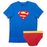 Underoos® Size Medium Superman Men's Brief and T-Shirt Set