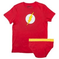 Underoos® DC Comics Flash Size Extra Large Men's Brief and T-Shirt Set