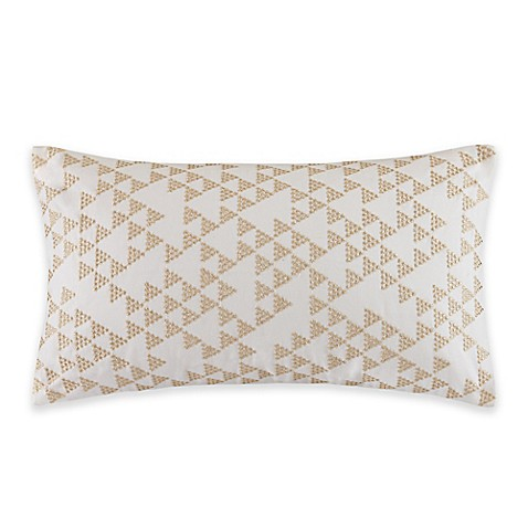 INK+IVY Thea Oblong Throw Pillow in Gold - Bed Bath & Beyond