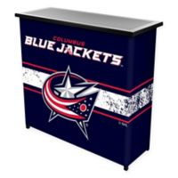 NHL Columbus Blue Jackets Portable Bar with Case