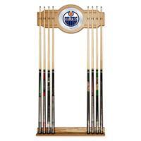 NHL Edmonton Oilers Cue Rack with Mirror
